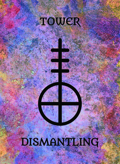 The Tower (Dismantling) image for the Transcendence Oracle™ card deck by Aethyrius.