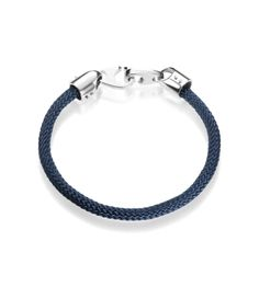 """Crawford Jewelry - Inglefield Collection 8 1/2"""" Sterling Silver Navy Marine Rope Bracelet"""