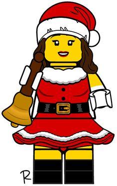Lego Custom Minifigures, Lego Truck, Lego Ideas, Lego Creations, Legos, Bart Simpson, Santa, Movie, Kit