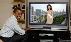 Meriam George Miss Universe Egypt 2005 watch live Obama