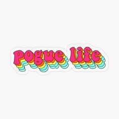 'Pogue Life' Sticker by ccmde Bubble Stickers, Cool Stickers, Photo Wall Collage, Picture Wall, The Pogues, Beach Vibes, Aesthetic Stickers, Backrounds, Transparent Stickers
