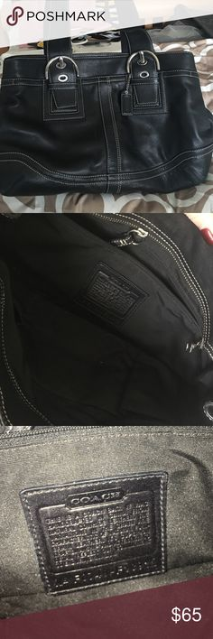 Black coach purse in great condition Black coach purse in great condition used twice only looks new Coach Bags