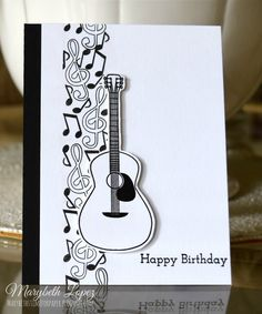 Music Notes Birthday Card marybethstimeforpaper.blogspot.com