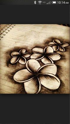 Frangipani tattoo