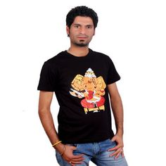 The tshirt is a special one, the typo tshirt shows Ganapati Bappa and his Vahana(vehicle) the cute little mouse.