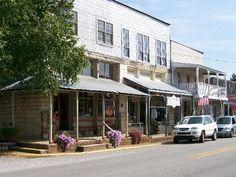 Historic Downtown Hardy, AR many Ward family vacations...