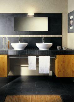 Zwarte tegels in de badkamer (41) Tegelhuys