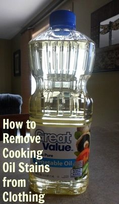 Get out the splatters on your clothes from cooking oil. Via Creative Homemaking