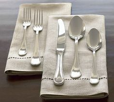 Katherine Flatware #potterybarn...not thinking you'll get me more than one place setting, but would love to begin my set
