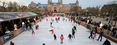 ice skating in the centre of Amsterdam. things to do in winter