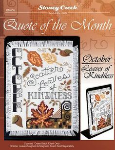 Quote of the Month October - Cross Stitch pattern