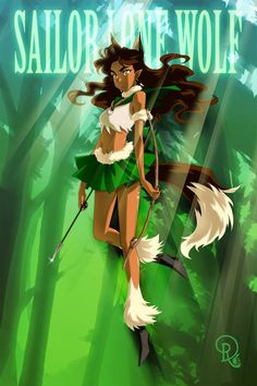 Sailor Lone Wolf ~by Drachea Rannak. Is it just me or does she look like Koga from Inuyasha?