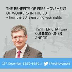 #EUchat on Free Movement with Commissioner Laszlo Andor http://storify.com/EU_Commission/euchat-with-employment-commissioner-laszloandoreu