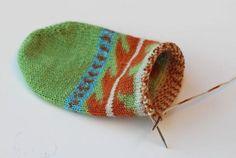 Toe Up Socken - Sockenwunder - Beginn des Spickels sockenwunder Anleitung: Toe Up Socken stricken mit Sockenwunder und Regia Pairfect