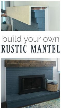 Beautiful Diy Rustic Wood Mantel