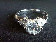1.25CTW  ROUND TRILLION LC  DIAMOND  WEDDING ENGAGEMENT RING  SZ  6 + GIFT #EXCEPTIONALBUY #Engagement