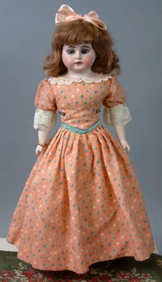"""Sweet Louis Wolf & Co. Armand Marseille Shoulderhead Dolly 16.5"""" from kathylibratysantiques on Ruby Lane"""