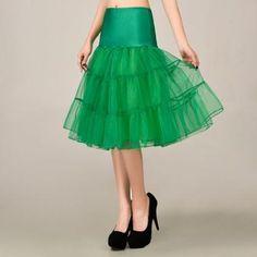 0d22cb1b5444 2016 Green Petticoat Summer Dress Mini A Line Skirts Crinoline Underskirt  Tutu Skirts Petticoats For Wedding Dress