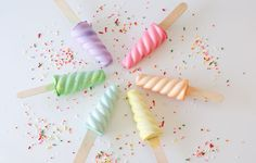 Give sidewalk chalk some handmade flair when you mix Plaster of Paris, water, and food coloring into popsicle molds. Wooden sticks complete the ice cream-treat look. Get the tutorial at Hello, Wonderful »   - Redbook.com