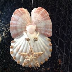 Seashell+Angel+holding+a+Special+Star+by+SeaThingsVentura+on+Etsy,+$22.00