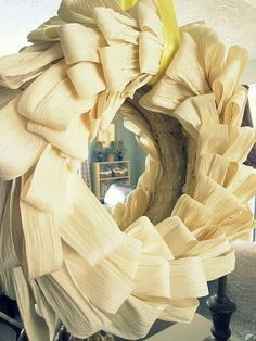 Fall Corn Husk Wreath