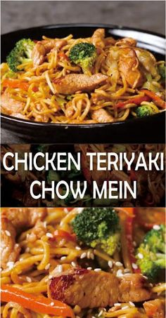 Chicken Teriyaki Chow Mein Chicken Teriyaki Chow Mein Make this easy Chinese favorite at home -Made with garlic, ginger, soy sauce, and ho. Chicken Teriyaki Recipe, Chinese Chicken Recipes, Easy Chinese Recipes, Asian Recipes, Simple Recipes, Healthy Recipes, Ethnic Recipes, Healthy Chow Mein Recipe, Asian Noodle Recipes