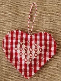 Chicken Scratch Embroidery Valentine
