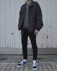 Streetwear daily - - - Check out our clothing label: /threadssupplyco ** Mode Outfits, Grunge Outfits, Casual Outfits, Fashion Outfits, Hipster Outfits Men, Guy Fashion, Fashion Ideas, Cool Outfits For Boys, Outfit Ideas For Guys