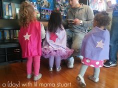 a {day} with lil mama stuart: Superhero Birthday Party & DIY Capes