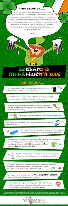 Fun Facts About Ireland & St Patrick's Day [INFOGRAPHIC]