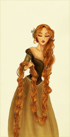 The longest braid ever, by Arbetta on deviantART (Rapunzel).it's so fairytale and princess-y looking. Disney Rapunzel, Rapunzel Flynn, Disney Kunst, Disney Fan Art, Disney Love, Disney Magic, Disney Princesses, Princess Rapunzel, Disney Characters