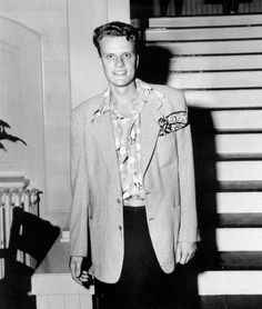 The young Billy Graham, Evangelist.