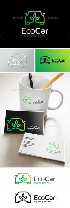 Green Car Logo — Transparent PNG #solar #car • Available here → https://graphicriver.net/item/green-car-logo/14137653?ref=pxcr