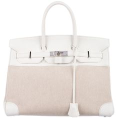 3ab99b168b2d Hermès Toile Birkin 35 (€5.920) ❤ liked on Polyvore featuring bags