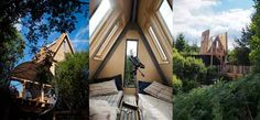 Sky Den staying here soon can't wait! Perfect for star gazing as the roof opens up! George Clarke Amazing Spaces, Canopy And Stars, Northumberland England, Skylights, Forest Park, Treehouses, Cumbria, Holiday Destinations, Stargazing
