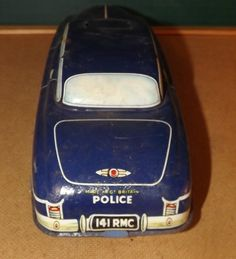 1950'S TINPLATE FRICTION DRIVE POLICE CAR - MADE IN BRITAIN BY WELSOTOYS | eBay
