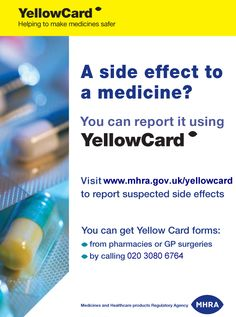 Report Online suspected Side Effects to Medicine Drugs with @MHRApress UK Yellow Card Scheme #MHRA