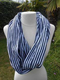 0f43f426d5f2 Snood écharpe tube tour du cou foulard femme marin ÉTÉ   Echarpe, foulard,  cravate