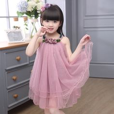 Find More Dresses Information about Girls Chiffon Party Flower Dress New Style Wedding Princess Dresses for Girls Kids Grenadine Wedding Princess Dress,High Quality dress a dress,China dress korean Suppliers, Cheap dresses for big girls from Best Gift & My Angel on Aliexpress.com