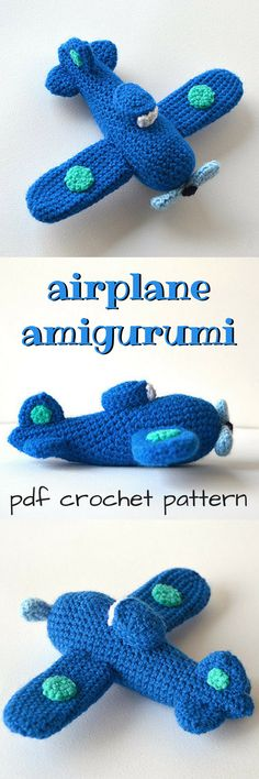 Such a cute toy airplane crochet pattern! Perfect airplane amigurumi to diy! #etsy #ad #	 VliegendeHollander