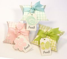 Easter pillow treat boxes by Lisa Johnson #MFT stamps