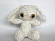 gehaakt knuffel konijn van Zeflgehaakt via DaWanda