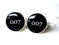 007 cufflinks  James Bond Inspired by whitetruffle on Etsy