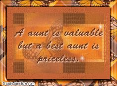 Aunt quote perfect for Great Aunt Jean.