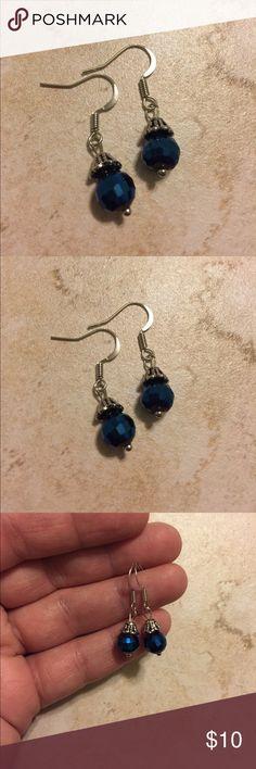 """Cobalt Blue Dangle Earrings Cobalt Blue Dangle Earrings for Pierced Ears. Measures approximately 1 1/4"""" long BJR Boutique Jewelry Earrings"""