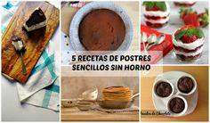 5 recetas de postres sencillos sin horno | Cocina
