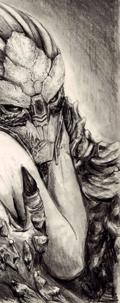 Awesome! Garrus Art - Very nice sketch...