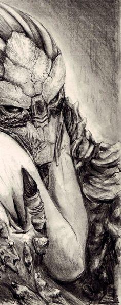 Awesome! Garrus Art - Very nice sketch...
