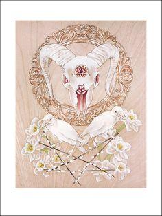 Satanica Naturalis fine art print pretty gothic by CoryBenhatzel, $40.00
