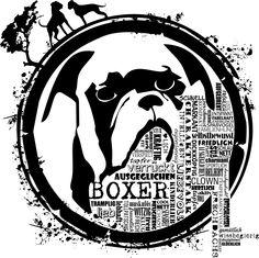 Boxer - Hunde so wie sie sein sollen! Unser Motiv zu diesen schmusigen Wesen.